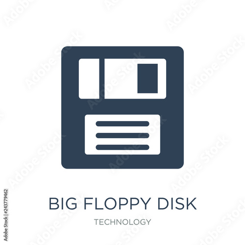 Big Floppy Disk Icon Vector On White Background Big Floppy Disk Trendy Filled Icons From
