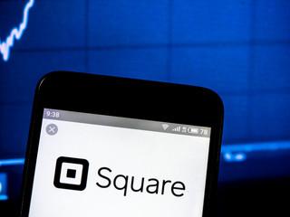 Kiev, Ukraine, February 16, 2019, illustrative editorial..Square, Inc. company logo seen displayed on smart phone