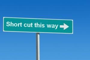 Shortcuts sign