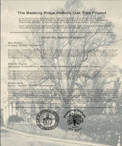 Book - Basking Ridge Oak Tree Project