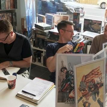 (von links) Mike Perkins, Alexander Bubenheimer, Ekki