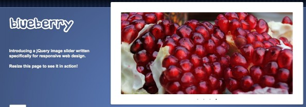 jQuery Slideshow Responsive Webdesign Blueberry