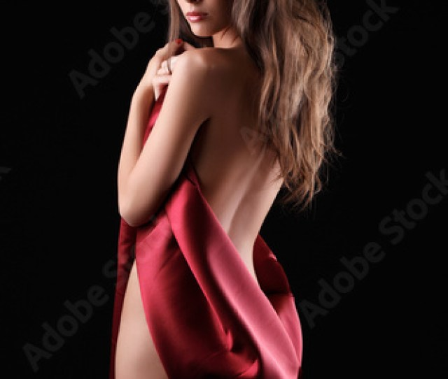 Sexy Woman In Red Silk