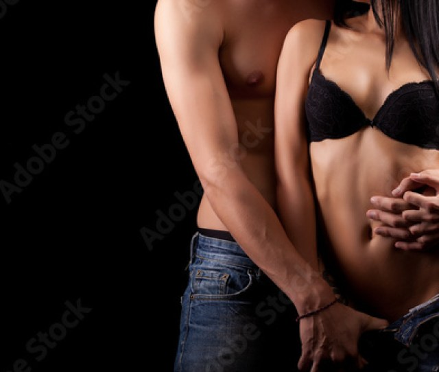 Sexy Love Couple On Dark Background