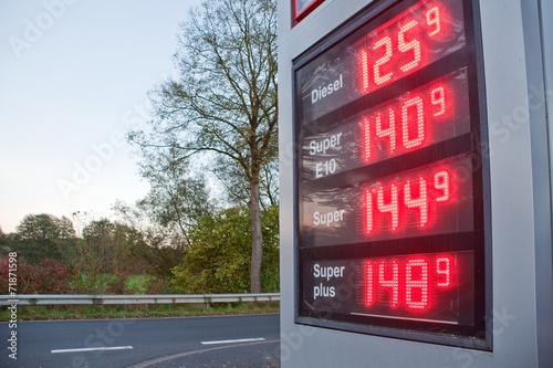 Treibstoff Preise