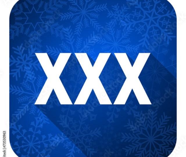 Xxx Flat Icon Christmas Button Porn Sign