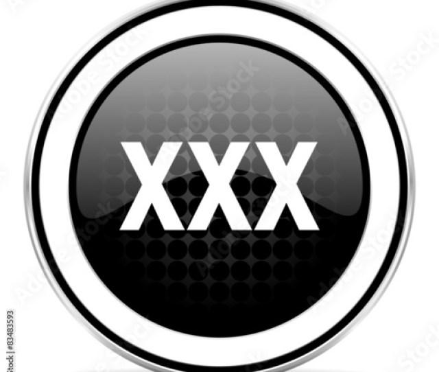 Xxx Icon Black Chrome Button Porn Sign