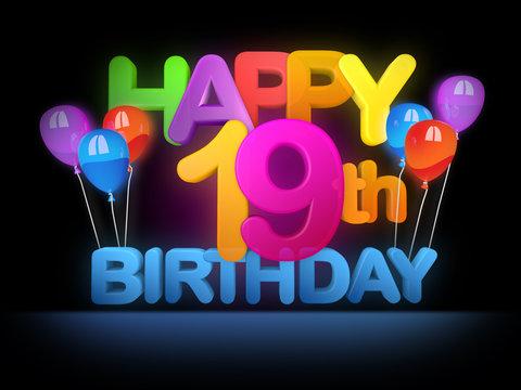 1 746 Best 19th Birthday Images Stock Photos Vectors Adobe Stock