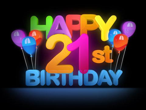 877 Best Happy 21st Birthday Images Stock Photos Vectors Adobe Stock