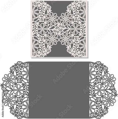 Laser Cut Pattern For Invitation Card Wedding