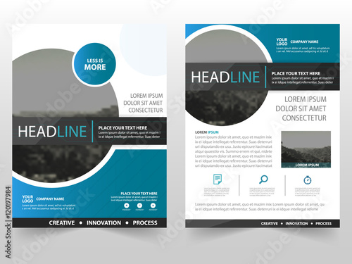 Blue Circle Vector Business Proposal Leaflet Brochure