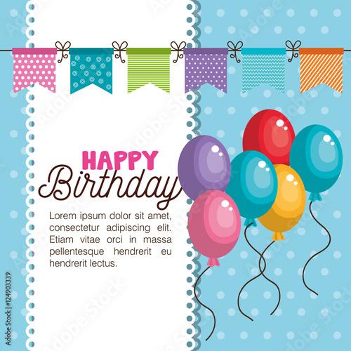 Hy Birthday Invitation Card Vector Ilration Design