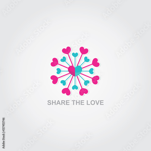 """Download """"Share The Love Logo"""" Stock image and royalty-free vector ..."""