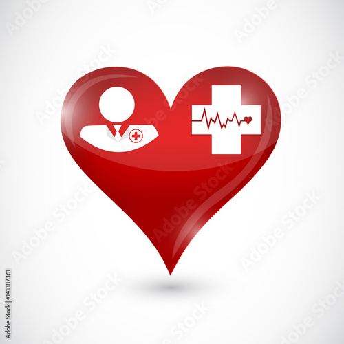 Doctor And Lifeline Red Love Heart Isolated Stock Photo And Royalty Free Images On Fotolia