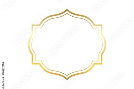 Gold frame  Beautiful simple golden design  Vintage style decorative     Beautiful simple golden design  Vintage style decorative border isolated  white background