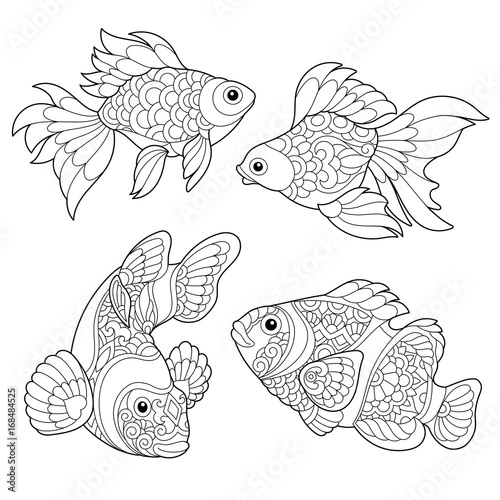 goldfish coloring page # 8