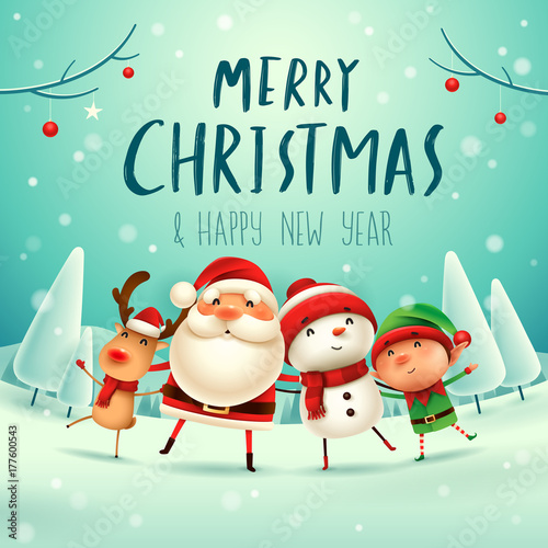 Merry Christmas Happy Christmas Companions Santa Claus