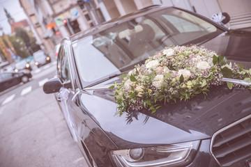 Dekoration Auto Hochzeit Mauve Rosen Girlande Herz Etsy