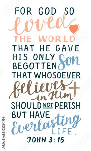 "Download ""Golden Bible verse John 3 16 For God so loved the world ..."