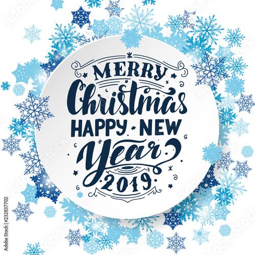 Merry Christmas Amp Happy New Year 2019 Handwritten