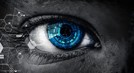 Abstract high tech eye concept