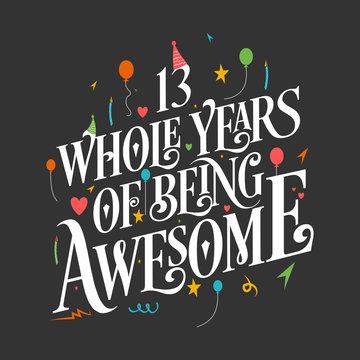 1 019 Best Happy 13th Birthday Images Stock Photos Vectors Adobe Stock