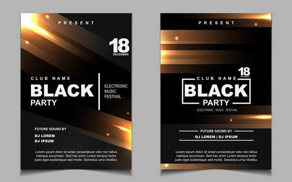 https stock adobe com images luxury night dance party music layout cover design template background with elegant black and gold style light electro style vector for music event concert disco club invitation festival poster 419977564 start checkout 1 content id 419977564