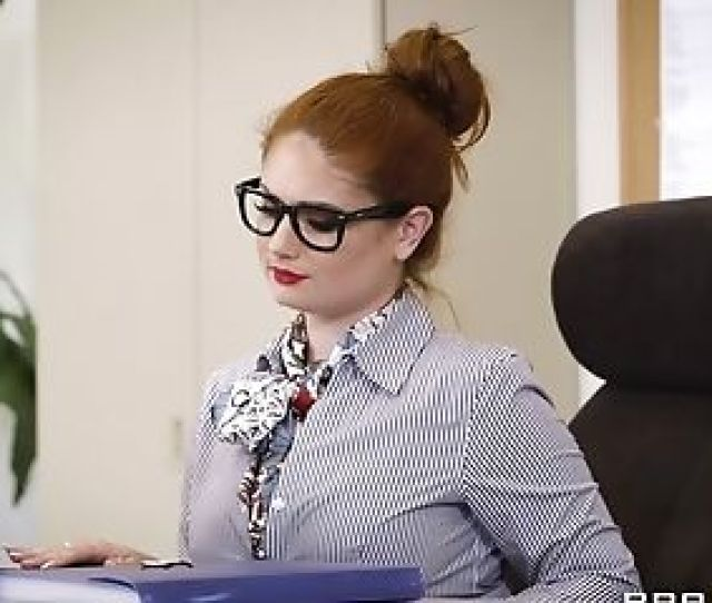 Ginger Haired With Phat Tits Having Her Office Day Spiced Up With A Big Pipe