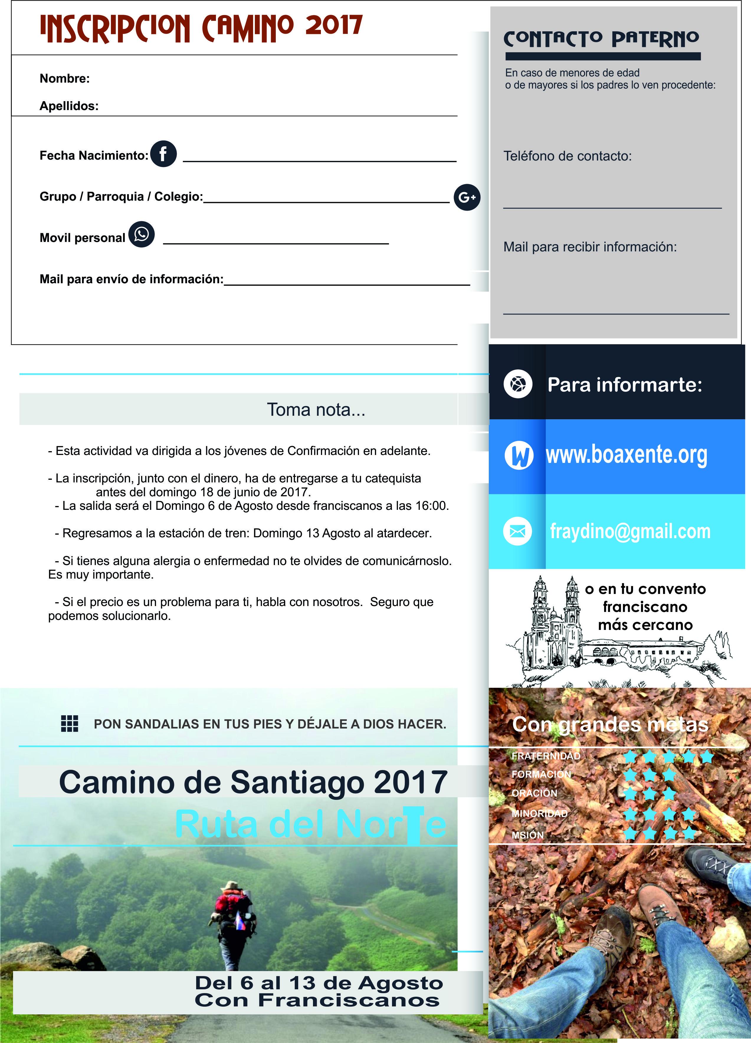 Camino de Santiago. Verano 2017