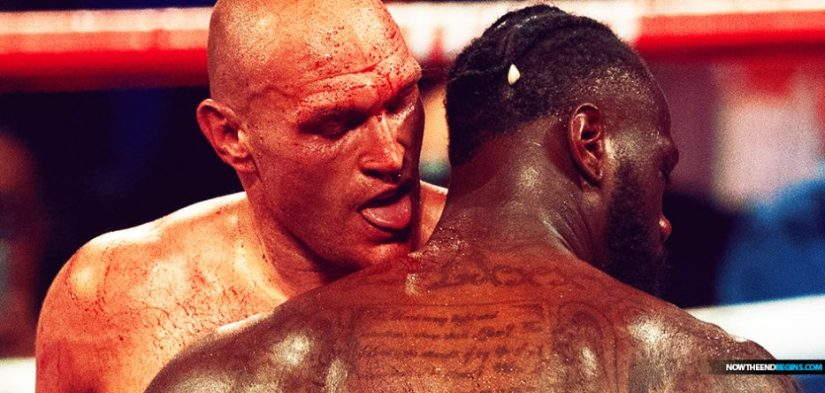 Image result for fury licking blood off wilder
