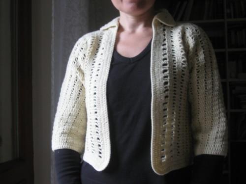 bolero, AquiLANA, crochet, Barbara Fiorentini