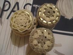 copribarattoli, lana, uncinetto