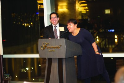 TAAHP Executive Director Roger Arriaga and 2018 TAAHP President Debra Guerrero