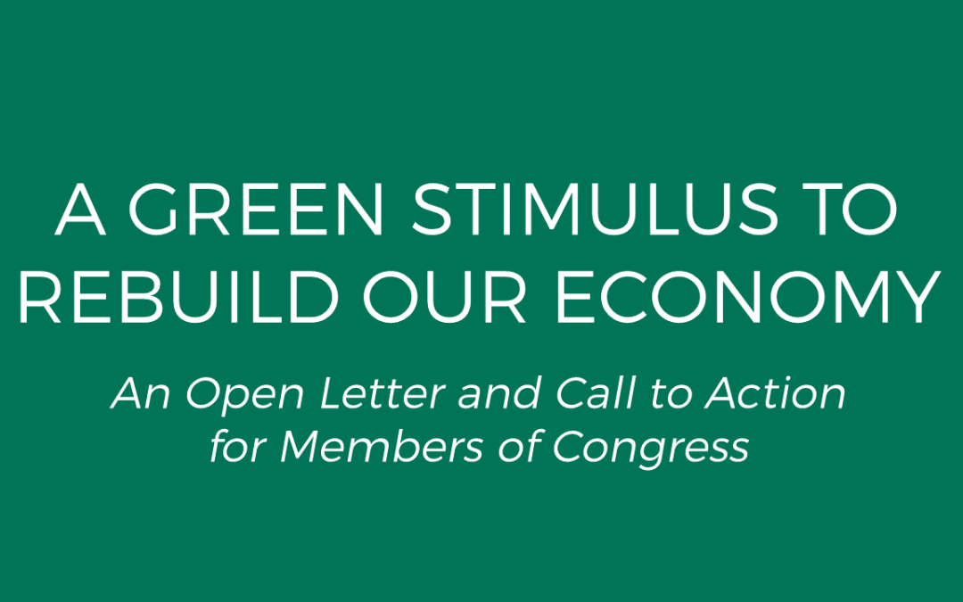 Group Pushes for Green Stimulus Bill with Substantial Housing Investments
