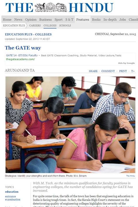 GATE 2014_The Hindu_Arunanand T A