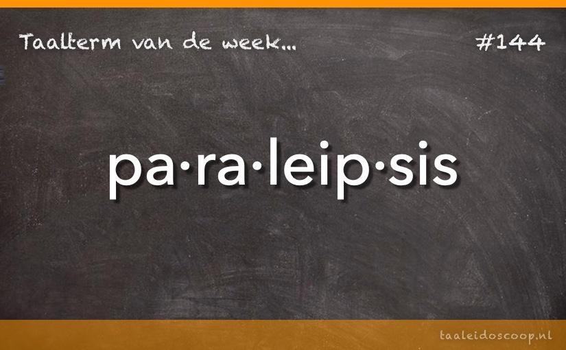 TVDW: Paraleipsis