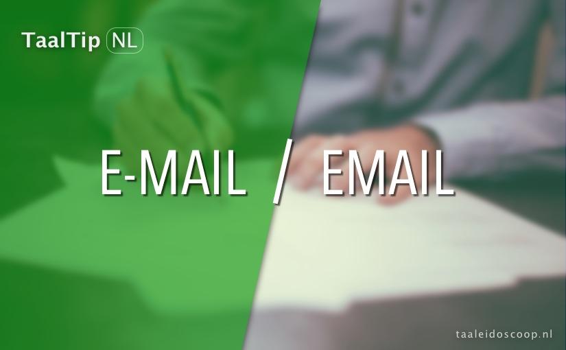 E-mail vs. email