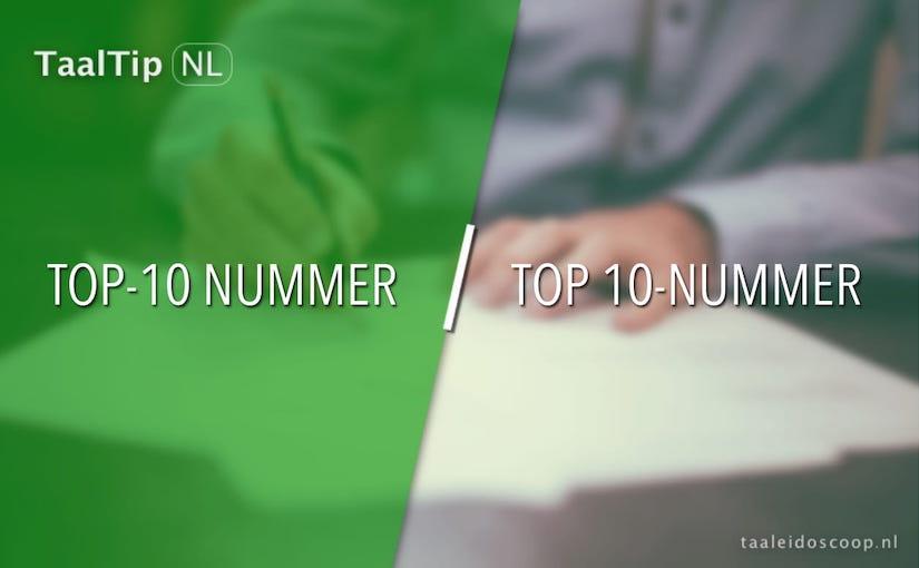 Top-10 nummer vs. top 10-nummer