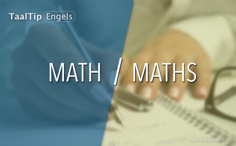 Math vs.maths