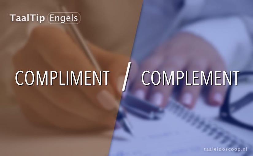 Compliment vs. complement