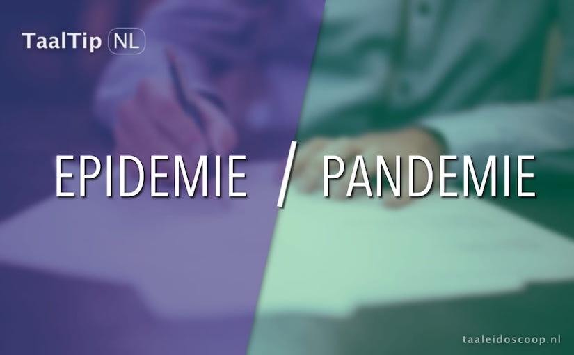 Epidemie vs. pandemie