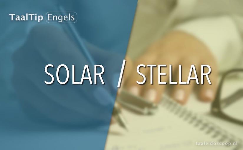 Solar vs. stellar