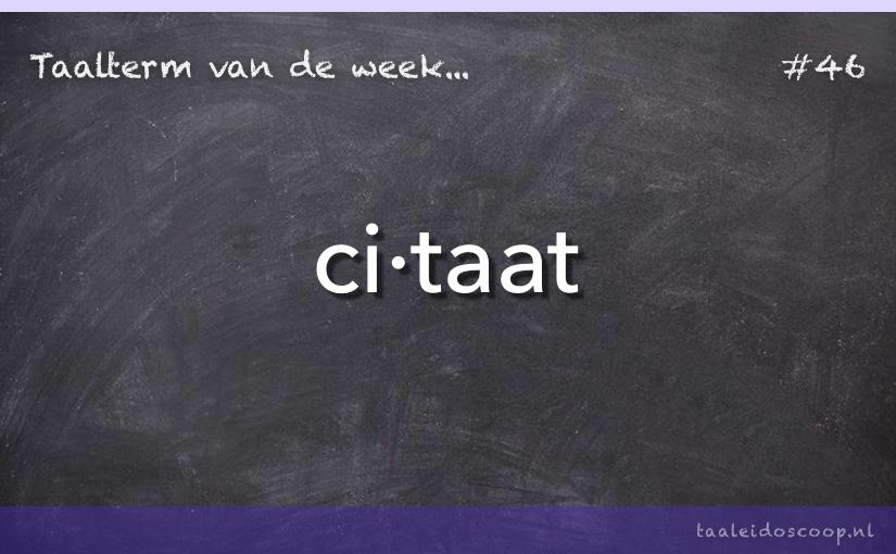 TVDW: Citaat