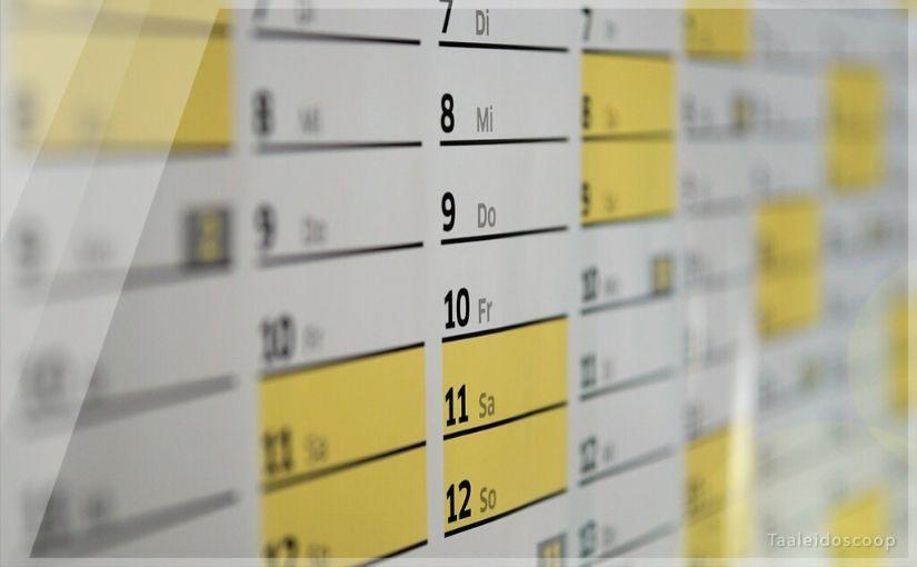 Zijn een kalender en een jaartelling hetzelfde?