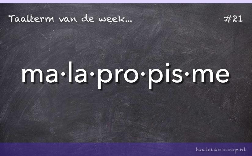 TVDW: Malapropisme