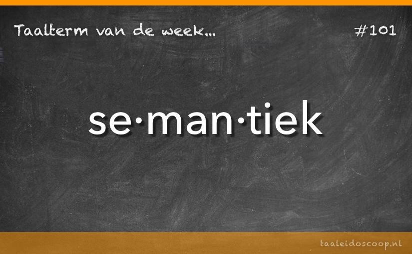 TVDW: Semantiek
