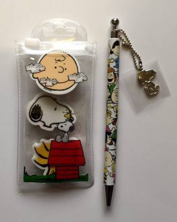 Matching pen and erasers