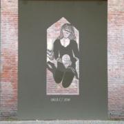 papercut, heilig huisje, 75 x 100 cm