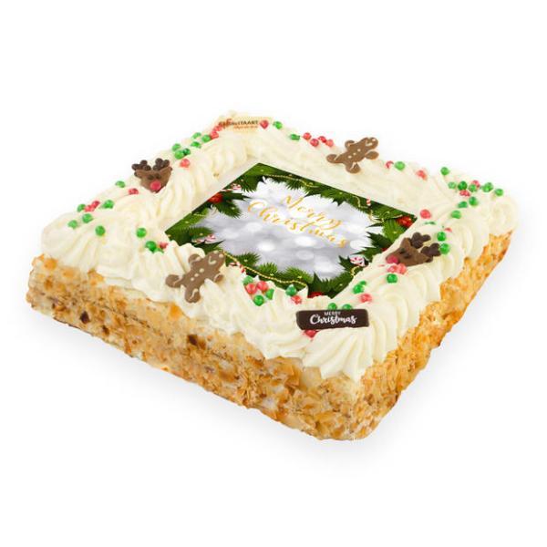 Luxe Kerst slagroomtaart