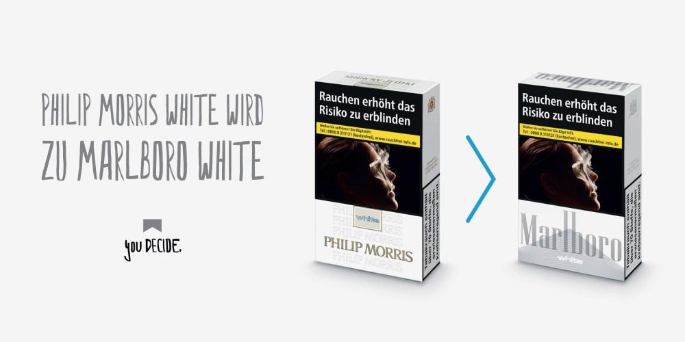 Aus Philip Morris White wird Marlboro White